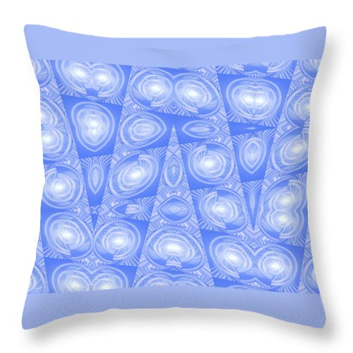 Moveonart! Global Gathering. -- Digital Abstract Art By Artist Jacob Kane -- Omnetra Throw Pillow featuring the digital art Moveonart Peacefulcrossingsinourworld by Jacob Kanduch
