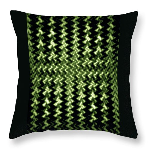 Moveonart! Global Gathering. Branch -- thankfulthankfulthankful -- Digital Abstract Art By Artist Jacob Kane Kanduch --omnetra Throw Pillow featuring the digital art Moveonart Thankfulthankfulthankful by Jacob Kanduch