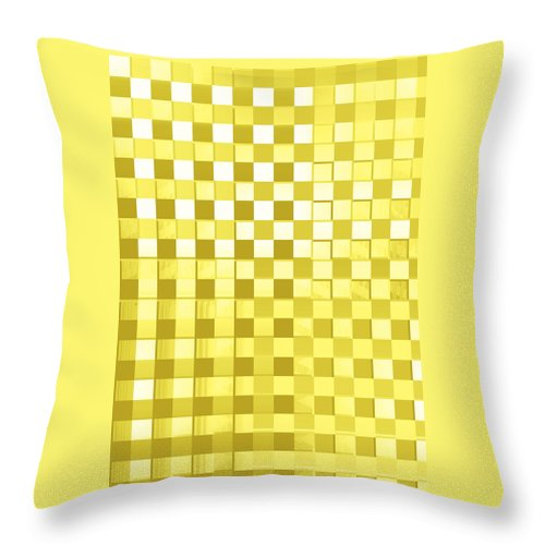 Moveonart! Global Gathering. -- Digital Abstract Art By Jacob Kane -- Omnetra Throw Pillow featuring the digital art Moveonart Yesforyellow by Jacob Kanduch