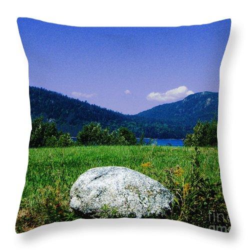 Boulder Throw Pillow featuring the photograph Mt Desert Island Maine by Lizi Beard-Ward