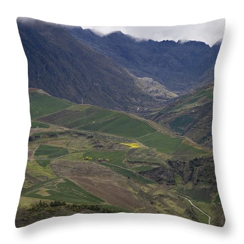 Nobody Throw Pillow featuring the photograph Mucuchies, Merida, Venezuela, Andes by David Evans