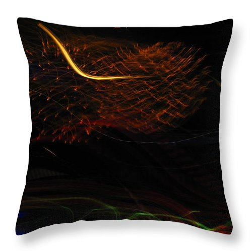 Fireworks Throw Pillow featuring the photograph Multi Firework by Denise Keegan Frawley