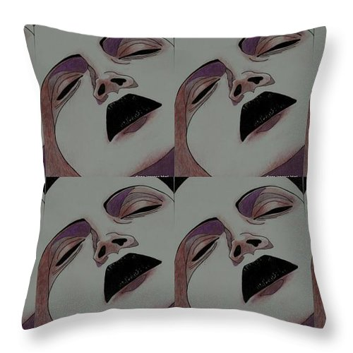 Portrait Throw Pillow featuring the photograph Multiple Passion by Diane montana Jansson