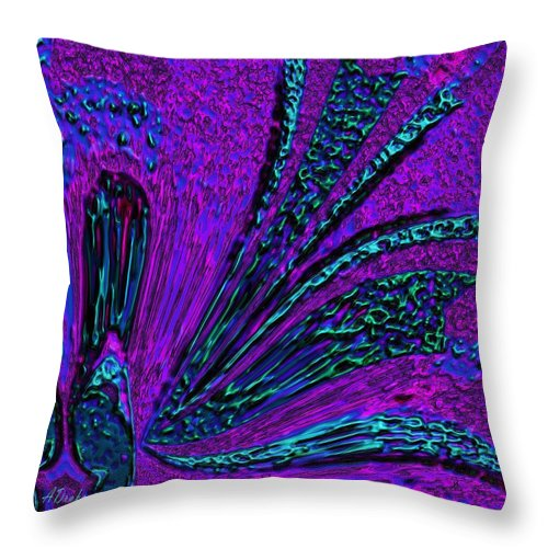 Reef Throw Pillow featuring the digital art Mutal Reef Life Support by Alec Drake
