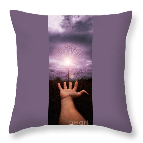 Arm Throw Pillow featuring the photograph My Arm And Hand 40 Years Ago by Mike Nellums