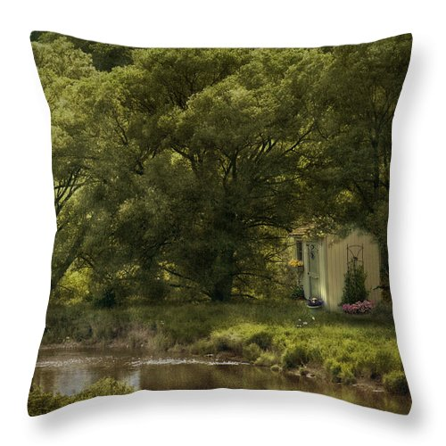 Trees Throw Pillow featuring the photograph My Secret Place by Robin Webster