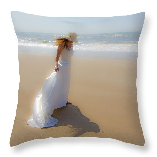 Topsail Throw Pillow featuring the photograph My Shadow Follows Me by Betsy Knapp