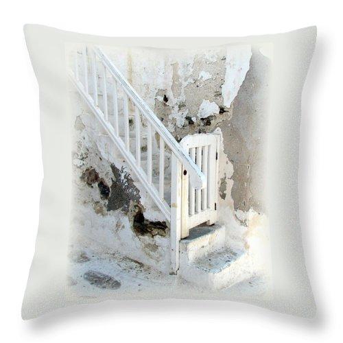 Mykonos Throw Pillow featuring the photograph Mykonos Patina by Carla Parris
