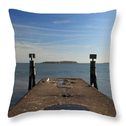 Island Throw Pillow featuring the photograph Mysterious Island by Robert McCulloch