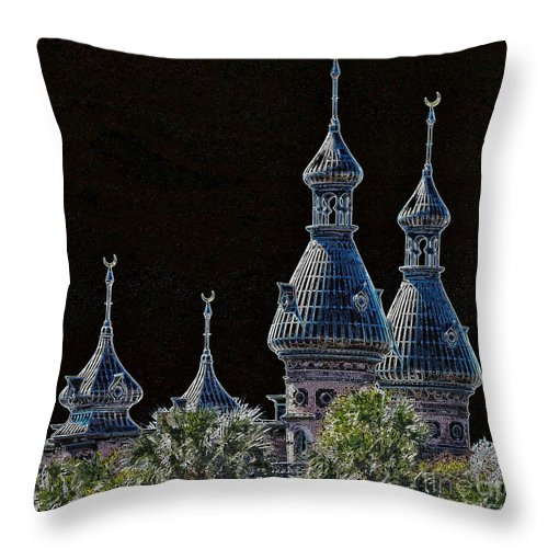 Tampa Throw Pillow featuring the photograph Mysterious Minarets by Carol Groenen