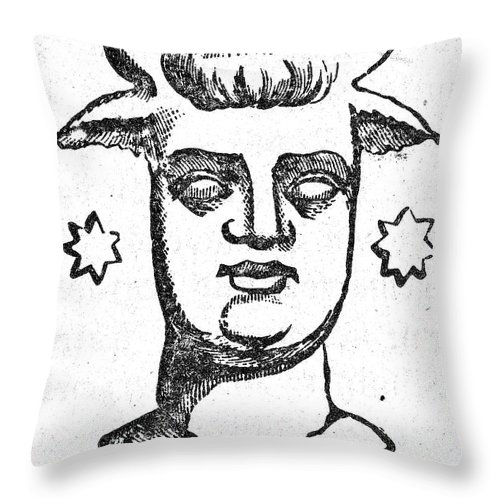 Ancient Throw Pillow featuring the photograph Mythology: Baal by Granger