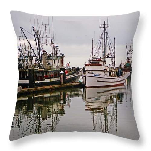 Fishing Boats Throw Pillow featuring the photograph Nafco Fishing Boat by Randy Harris