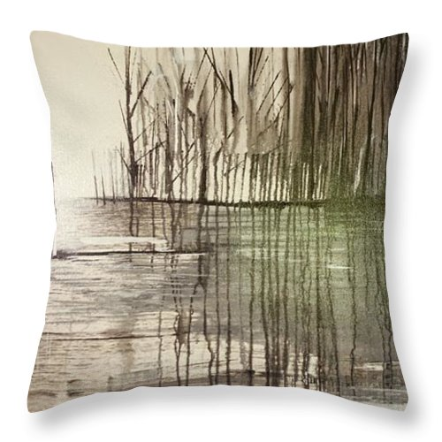 Jack Throw Pillow featuring the painting Natural Abstract 2 by Jack Diamond