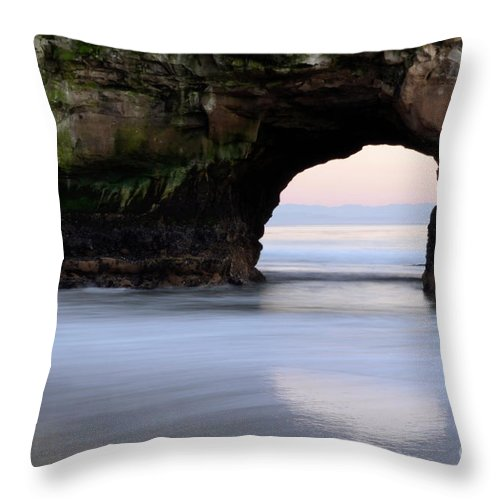 California Throw Pillow featuring the photograph Natural Bridges Arch by Bob Christopher