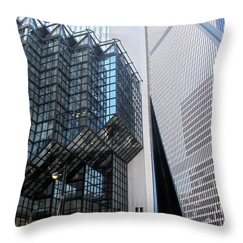 Architecture Throw Pillow featuring the photograph Naturally Abstract by Ian MacDonald