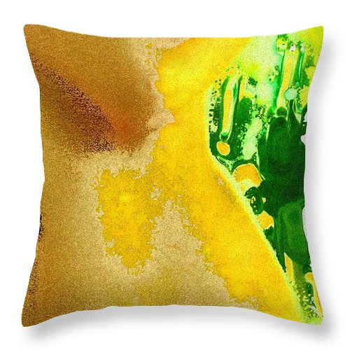 Nudes Throw Pillow featuring the mixed media Nature Beauty by Piety Dsilva