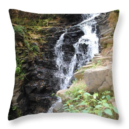 Waterfall Throw Pillow featuring the photograph Nature Falls by Jost Houk
