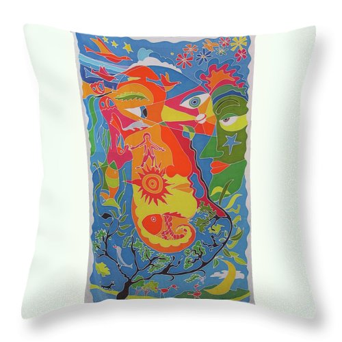 Nature Throw Pillow featuring the painting Nature by Rollin Kocsis