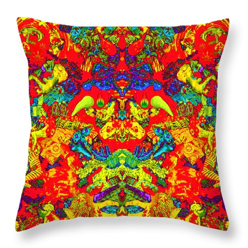 Surrealism Throw Pillow featuring the painting Nature Spirit 2 by Steve Fields