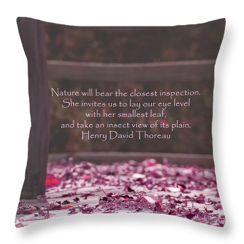 Nature Throw Pillow featuring the photograph Nature's Invitation by Southern Tradition