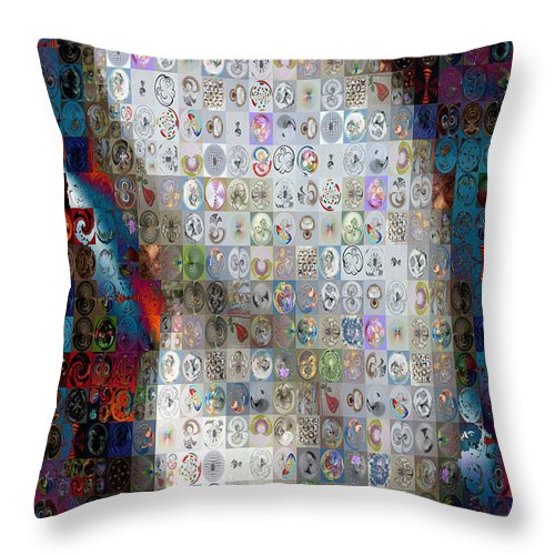 Paula Ayers Throw Pillow featuring the photograph Nautilus Shell Mosaic by Paula Ayers