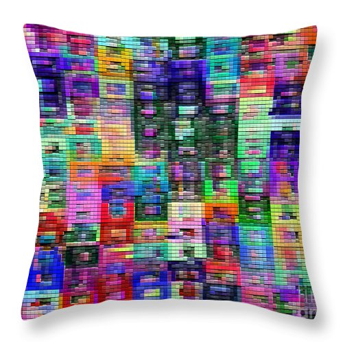 Ebsq Throw Pillow featuring the digital art Needlepoint by Dee Flouton