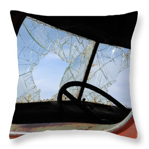 Window Throw Pillow featuring the photograph Needs Fixin by Vivian Christopher