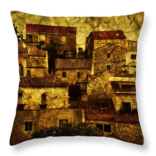 House Throw Pillow featuring the photograph Neighbourhood by Andrew Paranavitana
