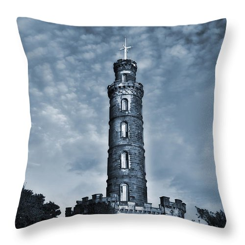 Architecture Throw Pillow featuring the photograph Nelson Monument by Svetlana Sewell