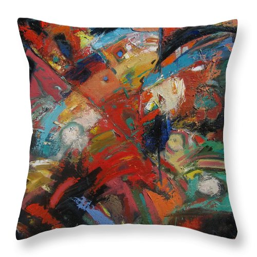 Abstract Throw Pillow featuring the painting New Direction 2 by Gary Coleman