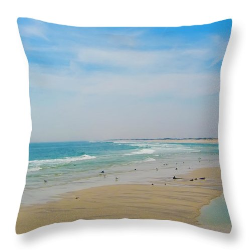 Beach Throw Pillow featuring the photograph New Jersey And You by Bill Cannon