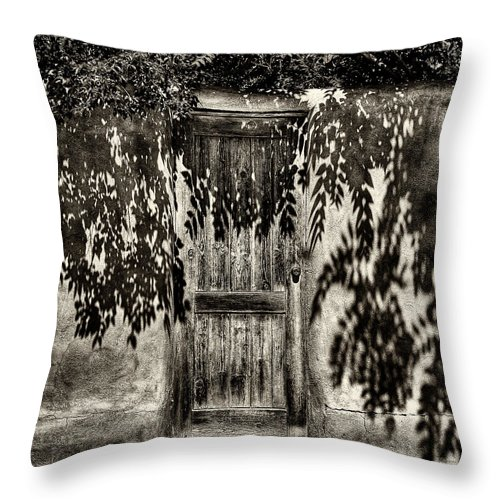 New Mexico Throw Pillow featuring the photograph New Mexico Door by David Patterson