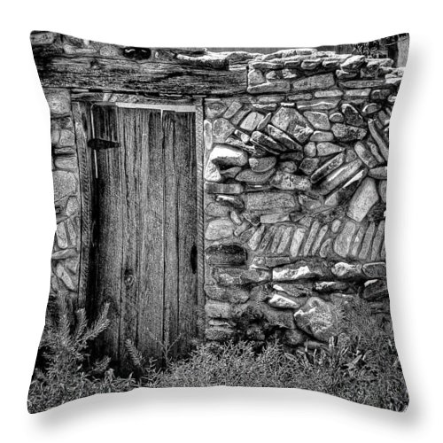 New Mexico Throw Pillow featuring the photograph New Mexico Door IIi by David Patterson