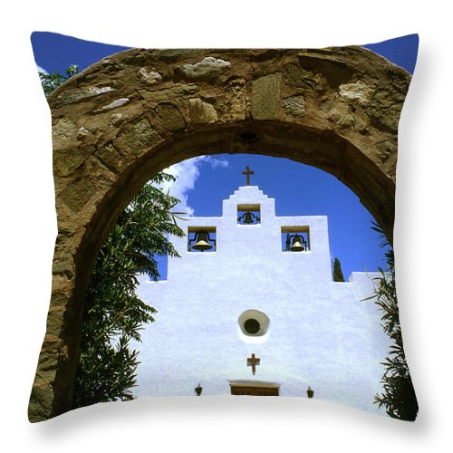 Church Throw Pillow featuring the photograph New Mexico Mission by Jerry McElroy