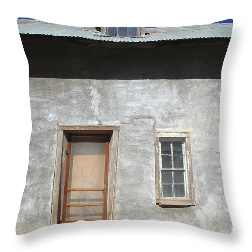 Southwestern Throw Pillow featuring the photograph New Mexico Series - Doorway IIi by Kathleen Grace
