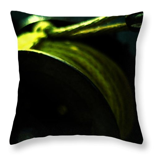 Conceptual Throw Pillow featuring the photograph New Moon by Rebecca Sherman