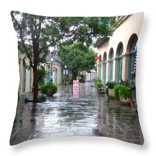 New Orleans Throw Pillow featuring the photograph New Orleans After Rain by Robert Margetts