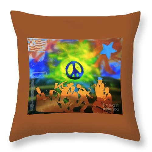 Jazz Throw Pillow featuring the painting New Orleans by Tony B Conscious