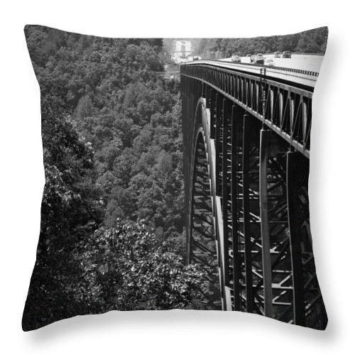 Bridgewalk Throw Pillow featuring the photograph New River Gorge Bridge Fayetteville West Virginia by Teresa Mucha