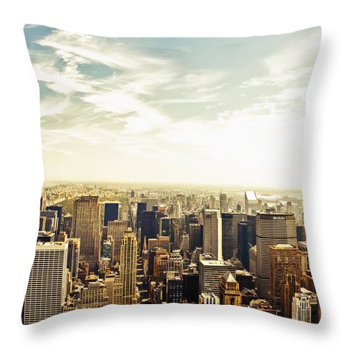 New York City Throw Pillow featuring the photograph New York City by Vivienne Gucwa