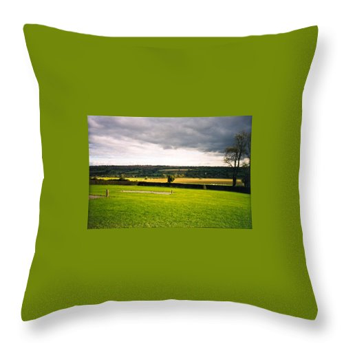 County Throw Pillow featuring the photograph Newgrange Gounds Looking Se by Douglas Barnett