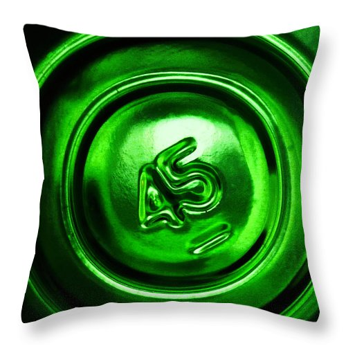 Abstract Throw Pillow featuring the photograph No 45 by Kristen Cavanaugh