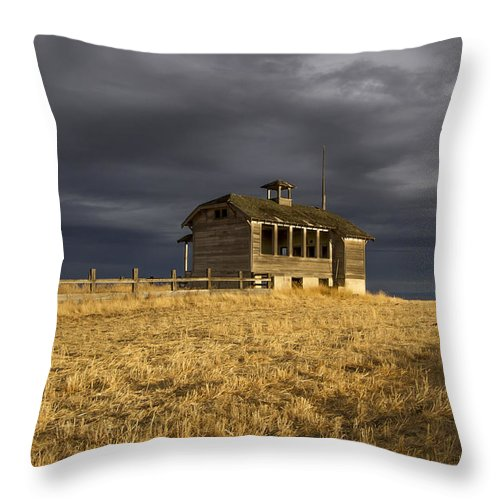 Building Throw Pillow featuring the photograph No More School by Jean Noren