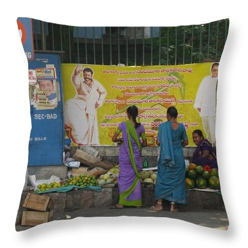 Street Vender Throw Pillow featuring the photograph No Parking by David Pantuso