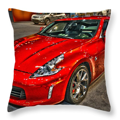 Art Throw Pillow featuring the photograph No Snoozing by Alan Look