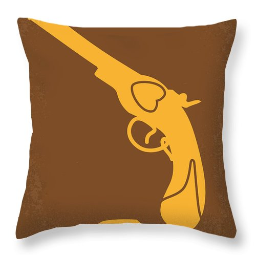 The Throw Pillow featuring the digital art No077 My The Mexican Minimal Movie Poster by Chungkong Art