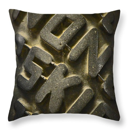 Rubber Throw Pillow featuring the photograph Non Skid by Newel Hunter