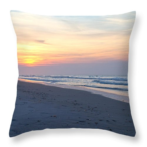 Topsail Throw Pillow featuring the photograph North Topsail Beach Serenity by Betsy Knapp