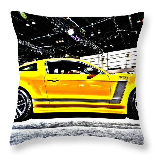 Art Throw Pillow featuring the photograph Not A Cowardly Boss by Alan Look