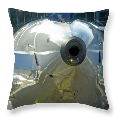 Transportation Throw Pillow featuring the photograph Not The Usual Aircraft Photo by Ausra Huntington nee Paulauskaite